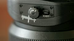 Tilt shift lens - stock footage