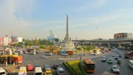 View over the Victory Monument area Stock Footage