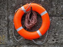 Orange Lifebelt - stock photo