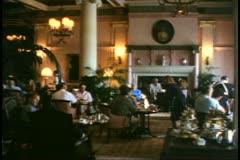 Victoria, British Columbia, Canada, Empress Hotel, tea in the lobby Stock Footage