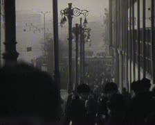 Newsreel, the people of the USSR, the city. Stock Footage