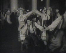 Newsreel Soviet Union, dances at the festival. Stock Footage