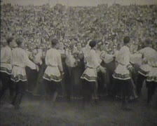 Newsreel Soviet Union, dances at the festival. - stock footage