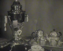 Stock Video Footage of Old crockery