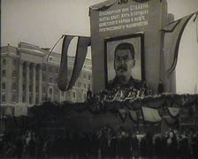 The funeral of Stalin in the USSR. Newsreel. Stock Footage