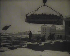The construction in the USSR, newsreel Stock Footage