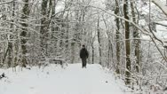 Stock Video Footage of Walking along Wenlock Edge in snow, Shropshire, England
