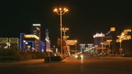 Night City HeiheTongjianglu 03 Stock Footage