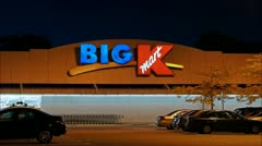 K Mart Big K sign - loop Stock Footage