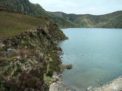 idyllic waterside scenery - stock photo