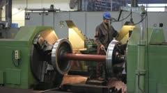 Worker in metalwork industry Stock Footage
