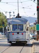 tram in san francisco - stock photo