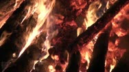 Burning fire at the Kurama fire festival in Japan Stock Footage