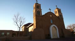 San miguel catholic church time-lapse socorro new mexico Stock Footage