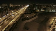Leninsky avenue with cars on the road. St. Petersburg, Russia Stock Footage