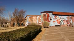 Chamizal national memorial mural el paso texas tx Stock Footage