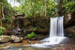 Waterfall in cambodia Stock Photos