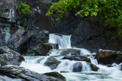 Waterfall on alaska Stock Photos