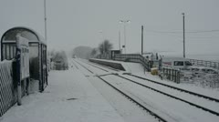Trans pennine express 170 turbostar train in winter snow, united kingdom Stock Footage