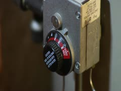 Hot Water Heater Dial Zoom Stock Footage