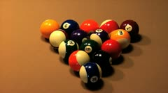 Billiard Break Stock Footage