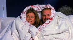 Snuggle Couple 2 Stock Footage
