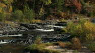 Stock Video Footage of River in Autumn 2