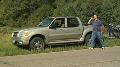 Roadside Call for help Stock Footage
