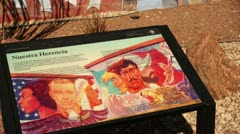 Chamizal national memorial mural el paso texas Stock Footage