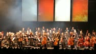 Applause after concert, obeisance Stock Footage