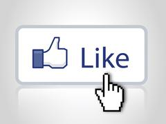 Like button Stock Illustration