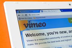 vimeo unveils design revamp posing challenge to youtube - stock photo