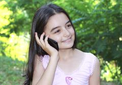 Stock Photo of Teenage girl talking on cell phone