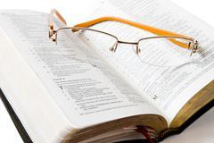 Reading Holy Bible Stock Photos
