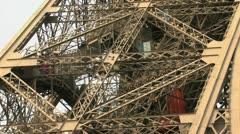 Eiffel Tower Climb Stock Footage
