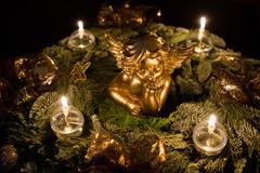 beautiful advent wreath - stock photo
