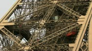 Time Lapse Eiffel Tower Tourists Stock Footage