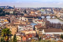 River arno and florence Stock Photos