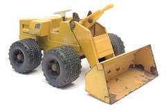 Toy Digger Isolated on a White Background Stock Photos
