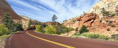 Stock Photo of zion road