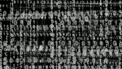 Internet binary data highway bw 10861 Stock Footage