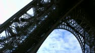 Time Lapse People Walk Up Eiffel Tower Staircase Stock Footage