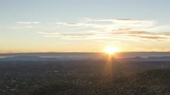 HD 30p tight- Sunset over the City of Tucson, AZ with storm front coming in Stock Footage
