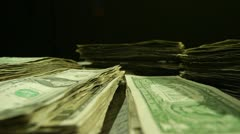 Stacks of Cash-Timelapse - stock footage
