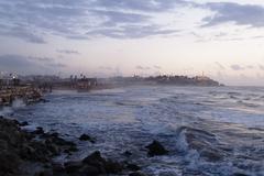 jaffa beach, israel - stock photo
