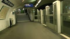 Exiting Metro Pont De Neuilly Stock Footage