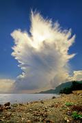 Cumulonimbus incus cloud rising Stock Photos