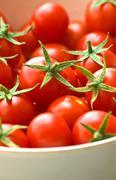 freshly picked cherry tomatoes - stock photo