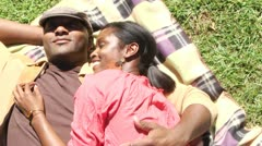 Couple in park - stock footage