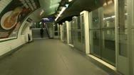 Time Lapse Paris Metro Station ED Stock Footage